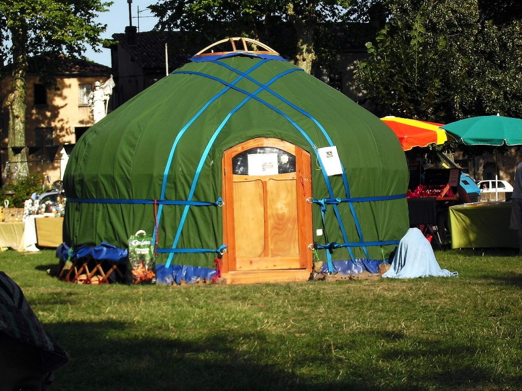 anansi yurts voorbeeld 4 meter yurt
